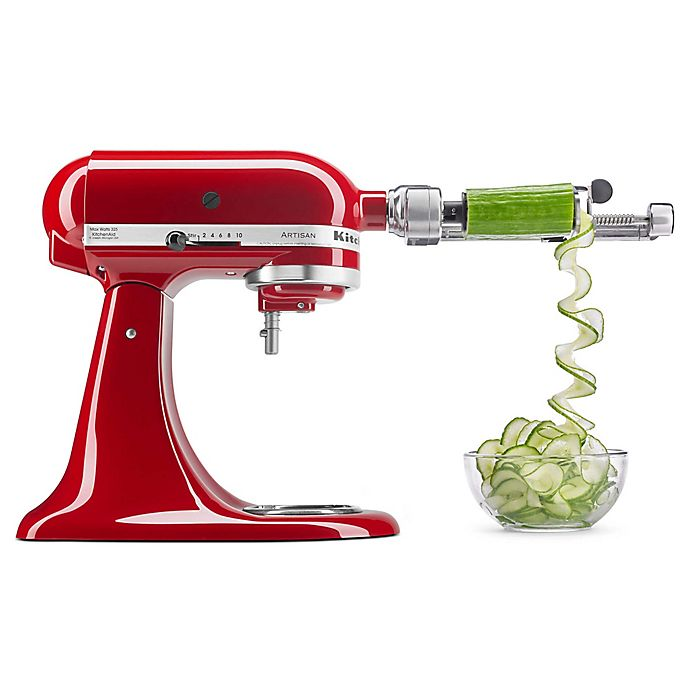 Alternate image 1 for KitchenAid® 7-Blade Spiralizer Plus with Peel Core and Slice Attachment