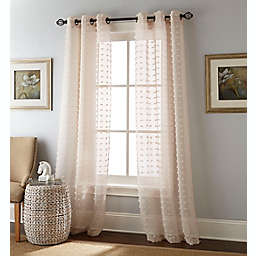 Nanshing® Meryl 2-Pack 84-Inch Grommet Semi-Sheer Window Curtain Panels in Sand