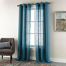 Nanshing® Harriet 2-Pack 84-Inch Grommet Twill Window Curtain Panels in Teal