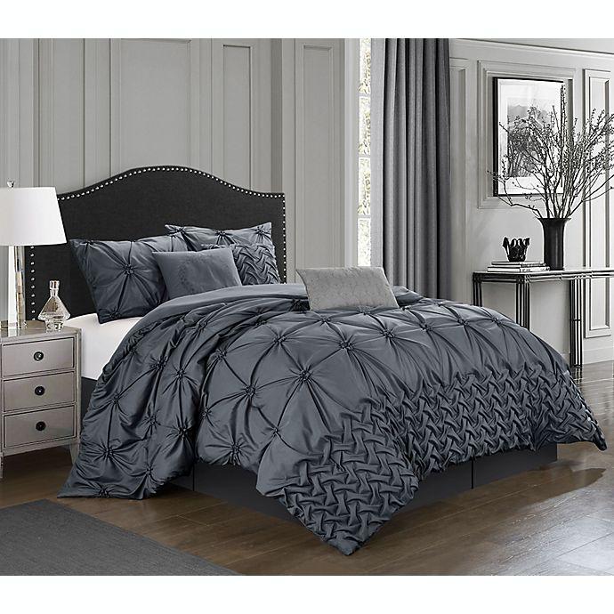 Alternate image 1 for Nanshing® Rhina 7-Piece California King Comforter Set in Grey
