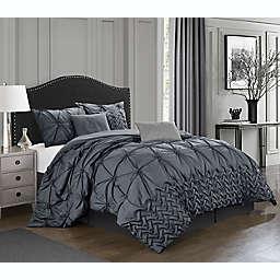 Nanshing® Rhina 7-Piece California King Comforter Set in Grey