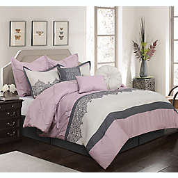 Nanshing Mylie 7-Piece California King Comforter Set in Pink