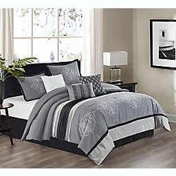 Nanshing® Roe 7-Piece Reversible Comforter Set in Grey