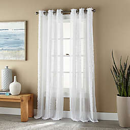 Nanshing Robbie Grommet 2-Pack 84-Inch Window Curtain Panels in White