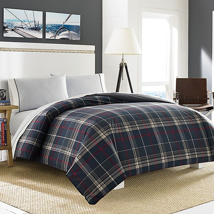 Alternate image 1 for Nautica® Booker Comforter Set in Charcoal