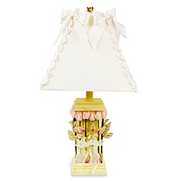 Glenna Jean Roses & Ribbons Yellow Lamp