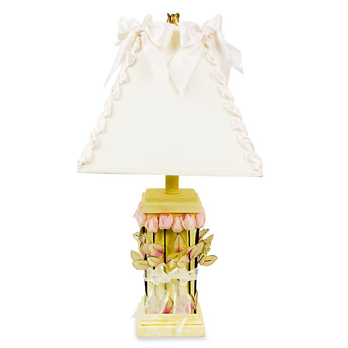 Alternate image 1 for Glenna Jean Roses & Ribbons Yellow Lamp