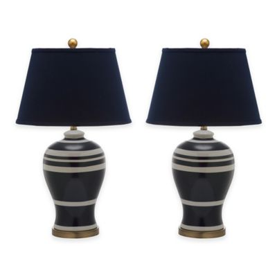 Safavieh Pottery 1 Light Striped Ginger Jar Table Lamps