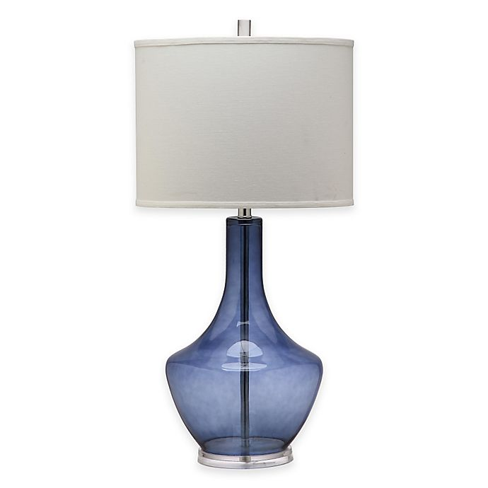 Alternate image 1 for Safavieh Mercury 1-Light Crackle Glass Table Lamp with Cotton Shade