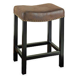 Amy Backless Stationary Bar Stool in Wrangler Brown