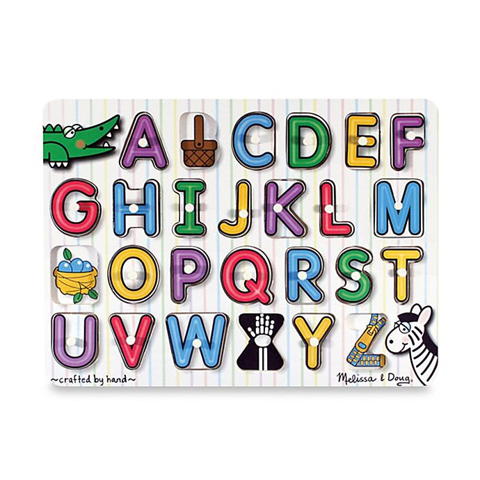 Alternate image 1 for Melissa & Doug® ABC Pegs Puzzle