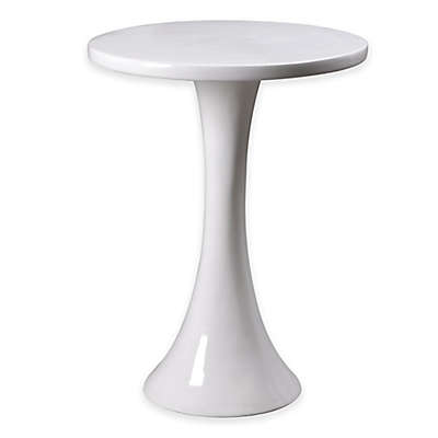Kenroy Home Snowbird Accent Table in Gloss White