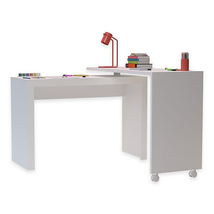 Alternate image 1 for Manhattan Comfort Calabria Nested Desk in White