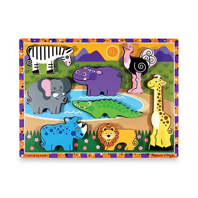 Alternate image 1 for Melissa & Doug® Safari Chunky Puzzle