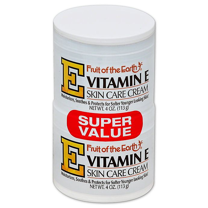 Alternate image 1 for Fruit of the Earth® 2-Count 4 oz. Vitamin E Skin Care Cream