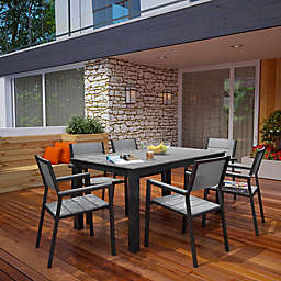 Modway Maine Outdoor 7-Piece 63-Inch Patio Dining Set