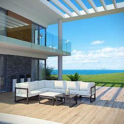 Modway Fortuna Outdoor 8-Piece Patio Sectional Sofa Set