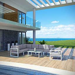 Modway Fortuna Outdoor 8-Piece Patio Sectional Sofa Furniture Set