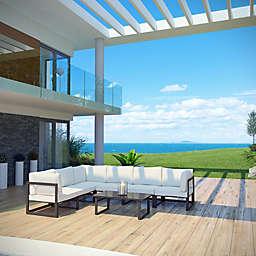 Modway Fortuna Outdoor 7-Piece Patio Sectional Sofa Set