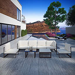 Modway Fortuna Outdoor 8-Piece Patio Sectional Seating Set