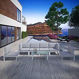 Modway Fortuna Outdoor 7-Piece Patio Sectional Sofa Furniture Set