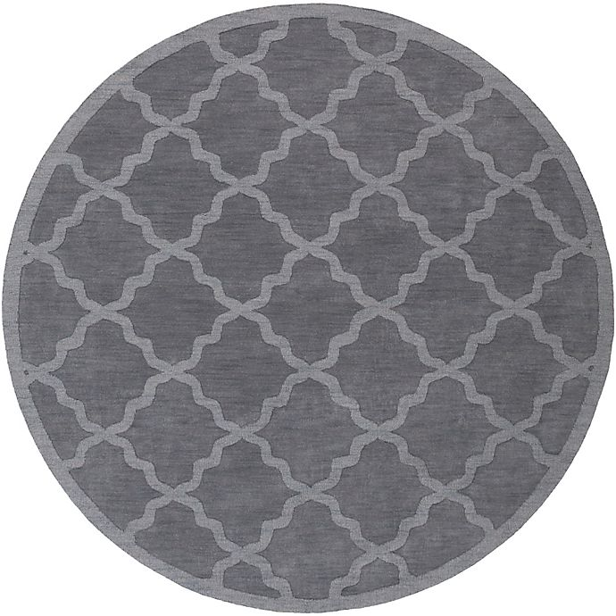 Alternate image 1 for Artistic Weavers Central Park Abbey 7-Foot 9-Inch Round Area Rug in Charcoal Grey
