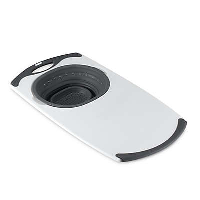 Dexas® Popware™ Over-the-Sink Collapsible Strainer Cutting Board in Grey