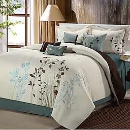 Chic Home Brooke 12-Piece Comforter Set in Beige