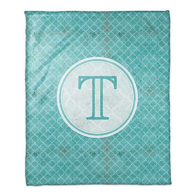 Quatrefoil Throw Blanket in Teal