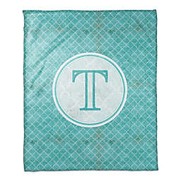 Quatrefoil Throw Blanket in Teal