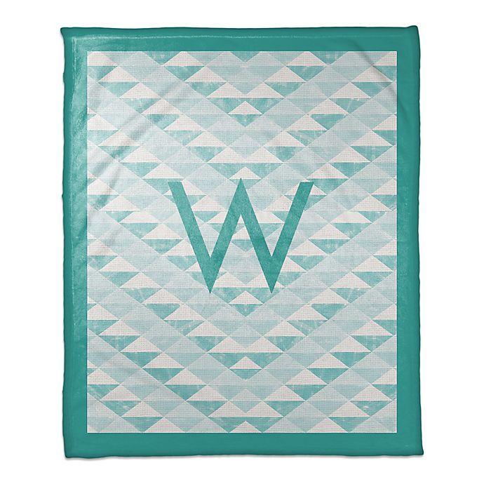 Alternate image 1 for Geometric Throw Blanket in Teal