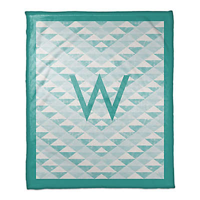 Geometric Throw Blanket in Teal