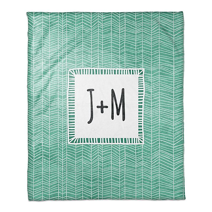 Alternate image 1 for Cool Trend Throw Blanket in Green/White