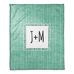 Cool Trend Throw Blanket in Green/White