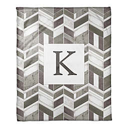 Chevron Throw Blanket in Greige