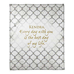 Best Day Throw Blanket in Grey/White