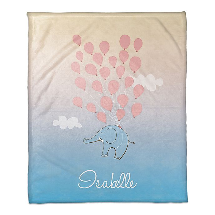 Alternate image 1 for Elephant and Balloons Throw Blanket
