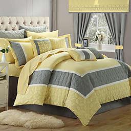 Chic Home Ariane 25-Piece Queen Comforter Set in Yellow