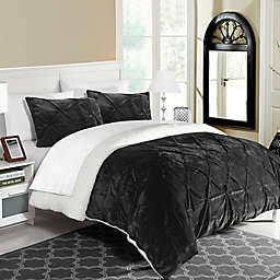 Chic Home Aurelia 2-Piece Twin XL Comforter Set in Black