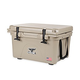 Orca Ice Retention Cooler in Tan