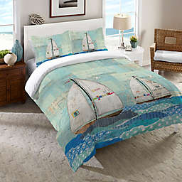 Laural Home® At the Regatta Comforter in Blue
