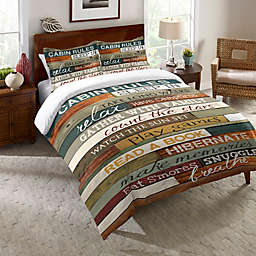 Laural Home® Cabin Rules Comforter in Brown