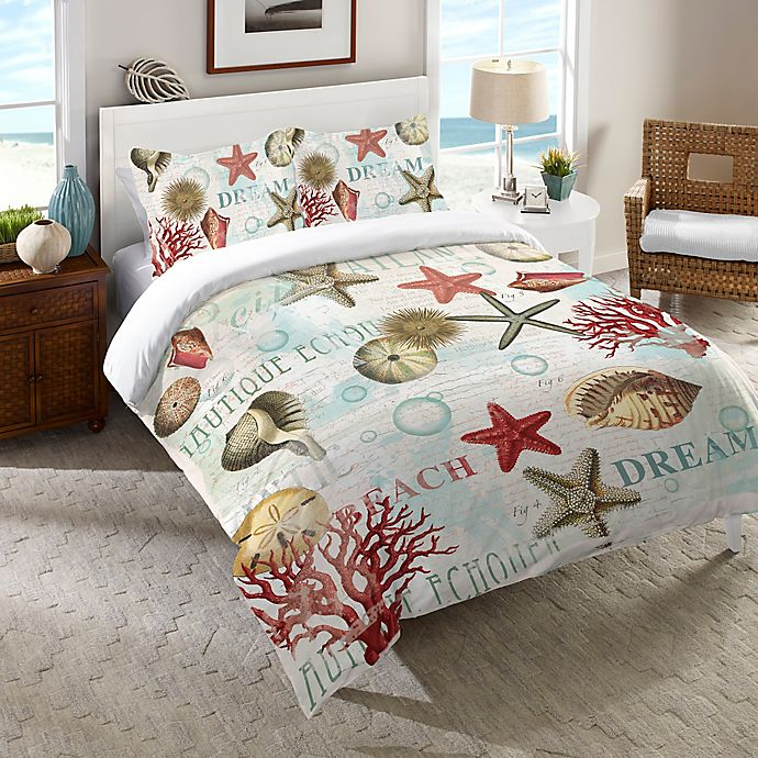 Alternate image 1 for Laural Home® Dream Beach Shells Bedding Collection