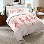 Laural Home Fashion Sketchbook Queen Comforter in Pink