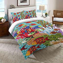 Laural Home® Fish in the Hood Queen Comforter in Teal