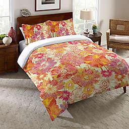 Laural Home® Full Bloom Comforter in Orange