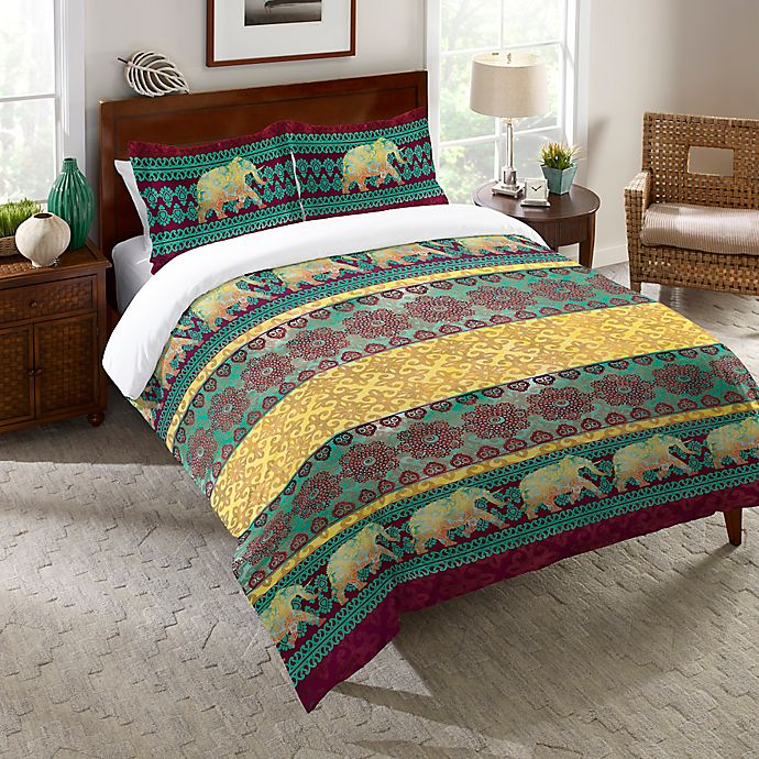 Alternate image 1 for Laural Home® Marrakesh Twin Comforter in Purple