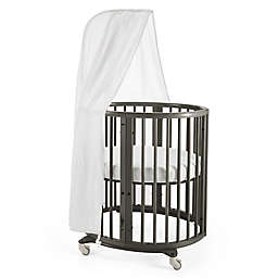 Stokke® Sleepi™ Mini with Drape Rod and Mattress in Hazy Grey