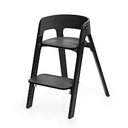 Stokke® Steps™ Chair Black Oak Legs with Black Seat