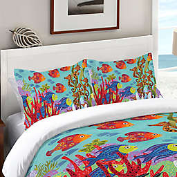 Laural Home® Fish in the Hood Standard Pillow Sham in Teal